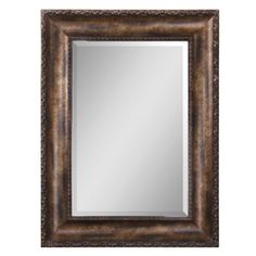 Global Direct�35.75-in x 47.75-in Antiqued Bronze Rectangle Framed Wall Mirror at lowes 1st choice!