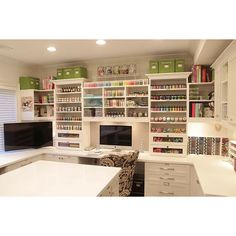 Now that's what I call a proper craft room!