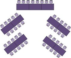 Rectangular Table Wedding Layout | chevron seating arrangement