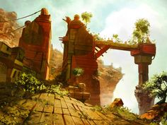 Ruined cloud city 2 by ~jameswolf on deviantART