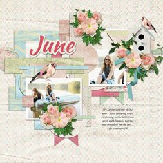 Page by Atusia using June's Pearl by Aimee Harrison Designs