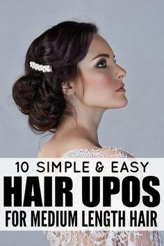 If you're looking for updo hairstyles that are casual, dressy, or ultra-formal, you're covered with this collection of easy updos for medium length hair!