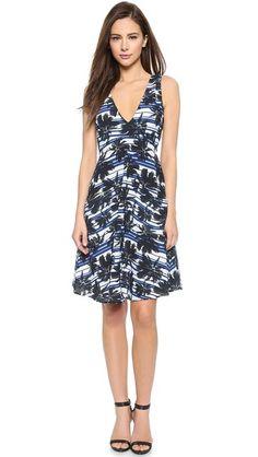 L'AGENCE Two Pocket V Neck Dress #Shopbop