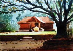 Temple - Watercolour