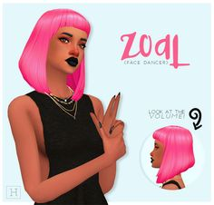 Sims 4 CC's - The Best: Hair by Habsims