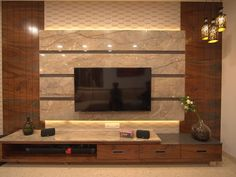 Simple False Ceiling Design, Bedroom False Ceiling Design, Modern Tv Wall Units, Modern Tv Cabinet, Living Room Tv Unit Designs, Home Design Living Room, Tv Unit Furniture Design, Pvc Furniture, Lcd Wall Design