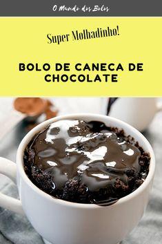 Banana Com Chocolate, Pudding, Desserts, Recipes, Cake, Mug Cake Healthy, Chocolate Chip Mug Cake, Chocolate Mugs, Recipe Of Chocolate Cake