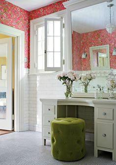 Vanity - love the stool