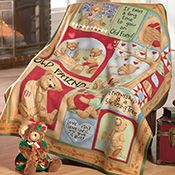 Teddy Bear Fleece Throw Blanket by Teresa Kogut; $9.99
