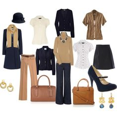 Navy and Tan Work Outfits  | followpics.co