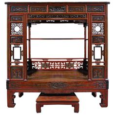 Early 20th Century Chinese Canopy Bed -SATURDAY SALE- | From a unique collection of antique and modern furniture at http://www.1stdibs.com/furniture/asian-art-furniture/furniture/