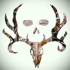 Would make an awesome tattoo for hubby... Bone Collector