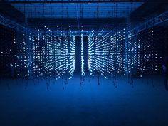 Squidsoup's LED light installation