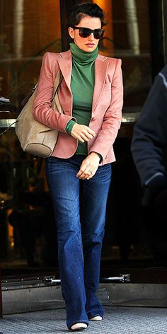 Penelope Cruz | Street Style    i actually like the colors for spring, even though the outfit is generally fall