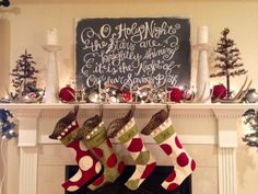 Christmas mantels