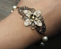 etsy item - flower jewelry instead of corsage? flower braclets - necklaces