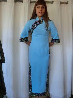 Jahrgang Chinesisch Cheongsam Kleid mit Stickerei von Satisfashion