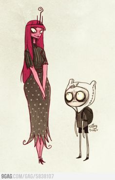 How Adventure Time would look if its painted by Tim Burton