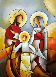 Beautiful art by Aurea Seganfredo, Brazilian artist Catholic Art, Religious Art, Mosaic Glass, Glass Art, Jesus Art, Holy Family, Stained Glass Patterns, Sacred Art, Native Art