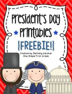 This mini-unit is full of fun printables you can use with your class to learn about President's Day! Math, literacy, and just-for-fun activities are all included. Enjoy, and happy teaching!