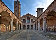 Basilica di Sant'Ambrogio - 1099 - mattoni con inserti in pietra - Milano.