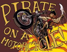 pirate on a motorcycle