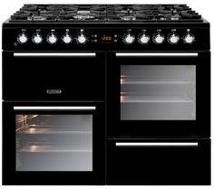 Buy LEISURE AL100F210K Dual Fuel Range Cooker - Black & Chrome | Free Delivery | Currys