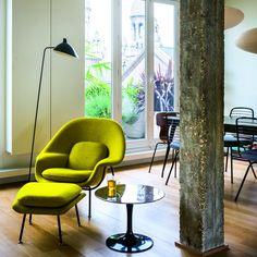 Un salon contemporain cosy et vitaminé - Marie Claire Maison