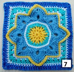 Ravelry: Maryfairy's B.A.W.L. CAL Baby Blue Bankets - 3 & 4