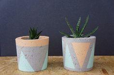 Doniczka betonowa, osłonka z betonu, średnia, M - GrowRaw -