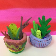 Clay cacti and pinch pots, 4th grade | Mrs. Knight's Smartest Artists | Bloglovin'