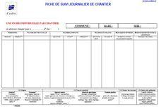 Fiche de suivi journalier de chantier en format pdf