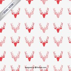 Red Reindeer Pattern