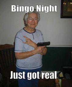 Grandma is packin mad heat next bingo night