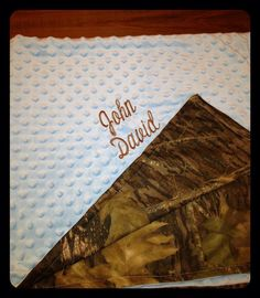 Baby Blanket hand made of Soft Camoflauge and by LulaBelleStitches, $65.00
