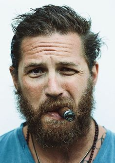 Tom Hardy smokes a cigar.Maya Angelou, Portrait Photography, Style, Man Stuff
