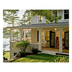 Pinewold - traditional - exterior - portland maine - by Whitten... ❤ liked on Polyvore featuring houses