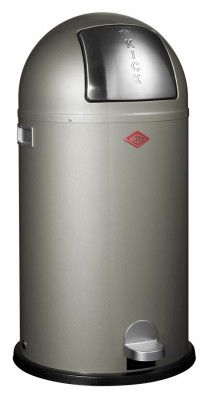 Kick the habit of unsophisticated waste solutions with this Wesco Kickboy 40L in New Silver #wesco