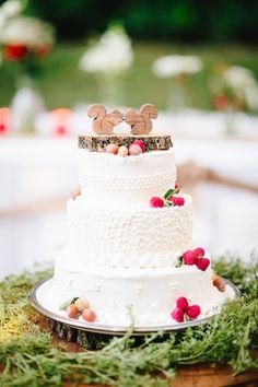 Squirrel Cake Topper Mini Woodland Wedding by AgainstTheGrainNC