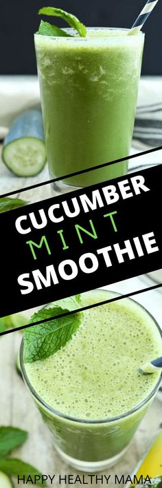 This Energizing Cucumber Mint Smoothie is a refreshing, healthy shake! I love this for breakfast or snack! great recipe.
