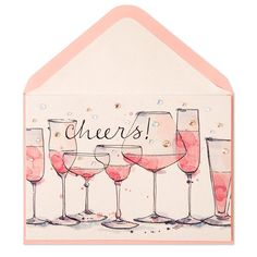 Cheers Watercolor Champagne - Bridal Shower Cards | PAPYRUS