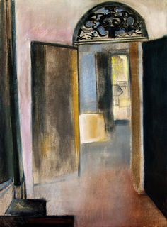 Ovella (At the Door) Interior Paint, Interior And Exterior, Interior Decorating, Chiaroscuro, Space Furniture, Artist Painting, Contemporary Artists, Gates, Photo Art