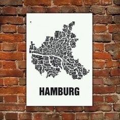 Mainz Screen Print by Buchstabenorte, now featured on Fab. Frankfurt, Dresden, Typography Inspiration, Design Inspiration, Card Book, Travel Icon, Grafik Design, Cartography, Three Dimensional