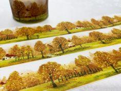 Autumn washi tape 10M x 3cm Fall tree Autumn tree scenes