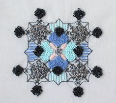 Gorgeous Contemporary Embroidery by Rosie Wright Abstract Embroidery, Diy Bead Embroidery, Hand Embroidery Tutorial, Embroidery Motifs, Embroidery Designs, Textile Design, Textile Art, Contemporary Embroidery, Abstract Shapes