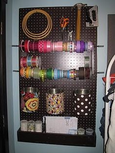 DIY organizer for the sewing room