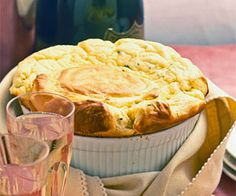 A towering cheese souffle makes an impressive meatless main dish. For the highest, puffiest souffle, be sure to use a clean bowl and beaters for the egg whites and fold gently when combining the yolk and white mixture to retain as much air as possible in the beaten whites.