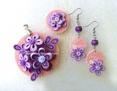SUSAN QUILLING: Quilled Jewellery Set