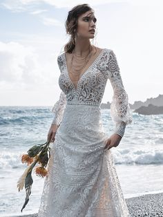 Sottero and Midgley - FINLEY, Step into this bishop sleeve A-line wedding dress and be transported. First stop, 60s London. Next, an evening in Versailles, then a Renaissance ball, and at some point, your best-day-ever inspired by all things dreamy, vintage, and divine.