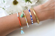 DIY: beaded tassel bracelets